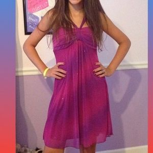 Trixxi sparkly purple dress! Adorable